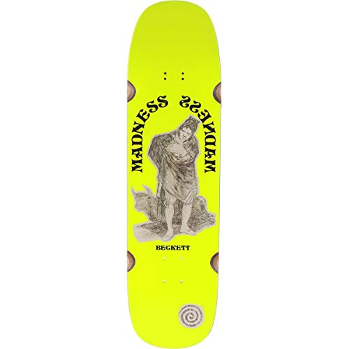 Madness Skateboarding Deck: OX NEON Beckett Yellow Neon R7 8.75