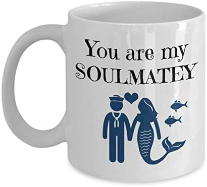 Soul Mate Mug Mermaid Tale Vibes Captain Sailor Coffee Cup Soulmatey Love Gift Ideas Tea Cocoa product image