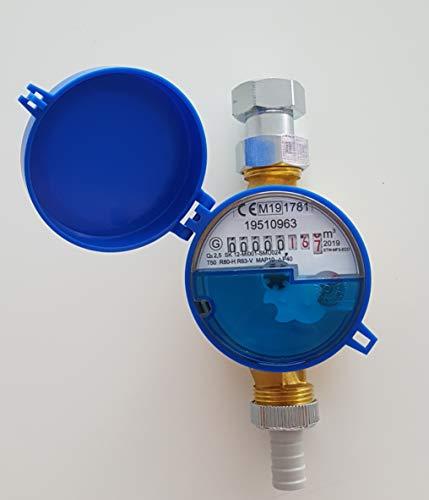 Zapfhahnzähler Wasserzähler Garten 110mm Komplett Set mit Zubehör Geeicht 2021 NEU