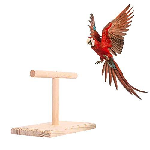 Wilk Perchas de Madera Loro masticación Apoyo Titular de pájaro de Juguete Aves pican Juguetes para Mascotas Juguete para Jugar Trampolín