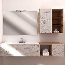 con 2 incisioni Verticali styleglassitalia.com Specchio Bagno retroilluminato MOD.Luxor