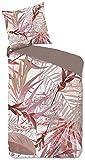 Good Morning! Raymond 2364.70.08 - Juego de cama (2 piezas, funda nórdica de 135 x 200 cm y funda de almohada de 80 x 80 cm), color rosa