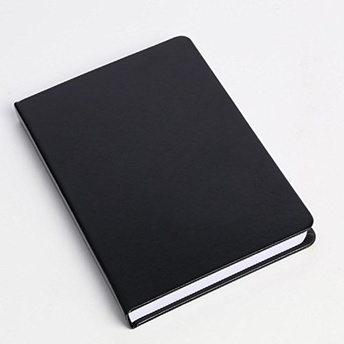 High-Quality Notebook Leather 252 Thick Pages - Ruled (Black)