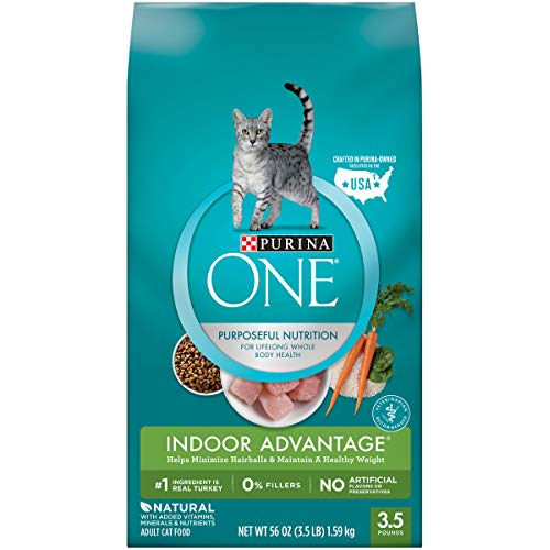Price comparison product image Purina ONE Hairball,  Weight Control,  Indoor,  Natural Dry Cat Food,  Indoor Advantage - 3.5 lb. Bag
