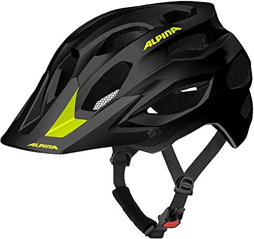 ALPINA Carapax 2.0 Fahrradhelm (Größe: 57-62 cm, 40 Black neon/Yellow matt)
