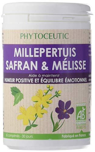 Laboratoires Phytoceutic Millepertuis Safran Pilulier 60 comprimés - 30 jours. Poids net 43 g