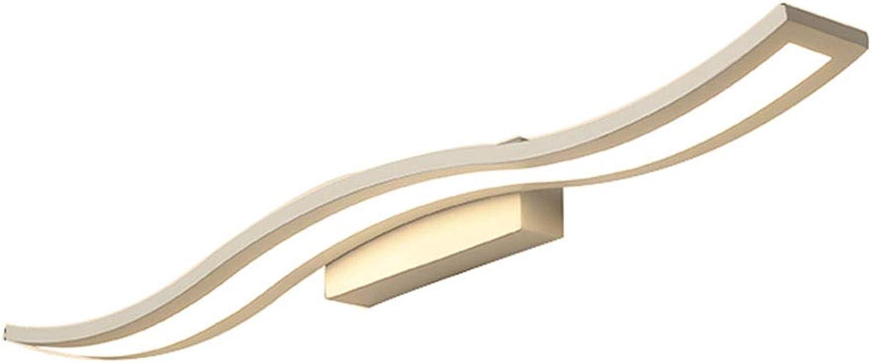 Badspiegel-Lampen, Wand-Anzeigen-Beleuchtung LED-Spiegel-Scheinwerfer-einfache moderne Umkleidekabine-Schrank-Spiegel-vordere Lampe kreatives Badezimmer-Schlafzimmer-Beleuchtung (warmes Licht) (Farbe