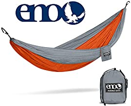 ENO - Eagles Nest Outfitters DoubleNest Hammock with Insect Shield Treatment, Orange/Grey