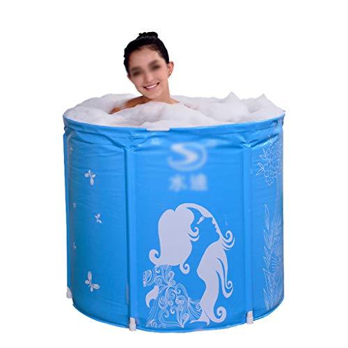 ZHYXJ-Bathtub Tragbare Badewanne füR Faltbare Badewanne Faltbar Sicheres und Umweltfreundliches Baden GenießEn Sie Die Mitnahme Von SPA Travel Carry Blue