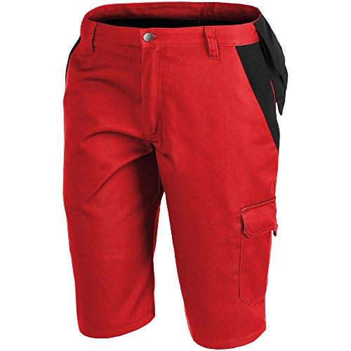 KÜBLER Workwear KÜBLER INNO Plus Arbeitsshorts rot, Größe 46, Herren-Arbeitsshorts aus Mischgewebe, leichte Arbeitsshorts