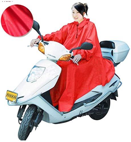 ZXL Regenjas Waterdichte Regen Poncho, Waterdichte Grote Regen Kaap Jas Mobiliteit Scooter Motorfiets Regenjas Regenhoes Poncho Regenkleding, Volledige Bescherming met Visor XXXL Regenkleding