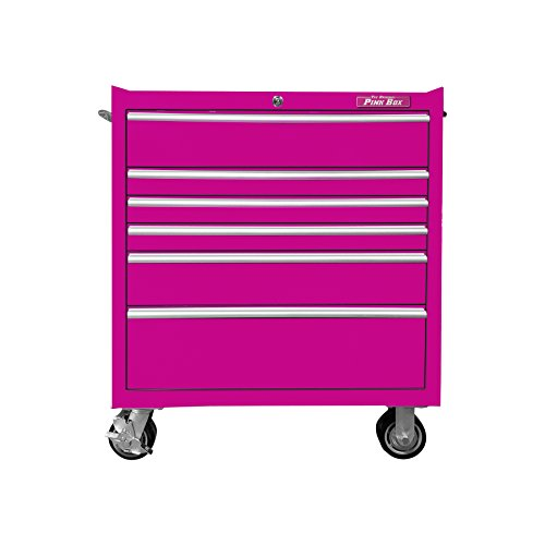 Best Tool Trolley, Pink Tool box with wheels, Tool Cart by The Original Pink Box