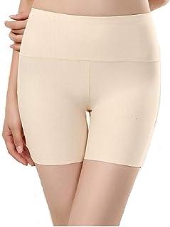 PLUMBURY® Women's High Waist Tummy Control Seamless Smooth Safety Shorts/Boyshort Panties/Under Skirt Shorts/Cycling Shorts,Free Size