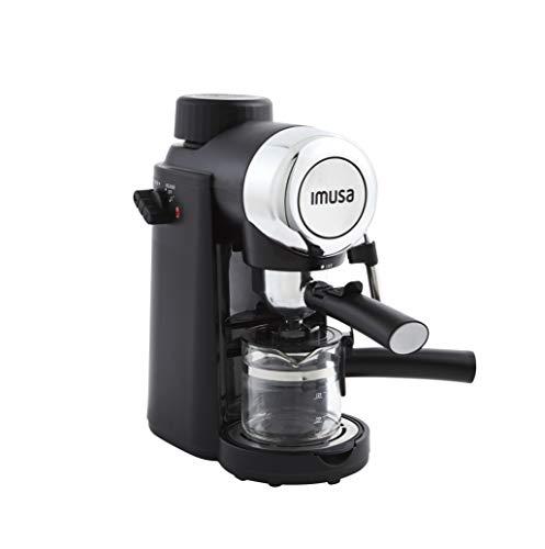 IMUSA USA 4 Cup Epic Electric Espresso/Cappuccino Maker, Black 800 Watts