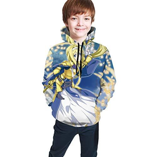 Sword Art Online Alice Schuberg&Eugeo -Unisex Casual 3D All Printed Warm Hooded,Boys Girls Winter Thick Pullover Sweatshirts Hoody Streeshirts Jacket