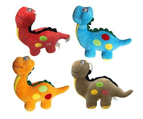 CM Dinosaurio de Peluche para Bebe, Juguete Interactivo de 24x20cm, De Dibujos Animados Suaves Muñeca Rellena Siesta Almohada Regalo De Cumpleaños para niños y niñas