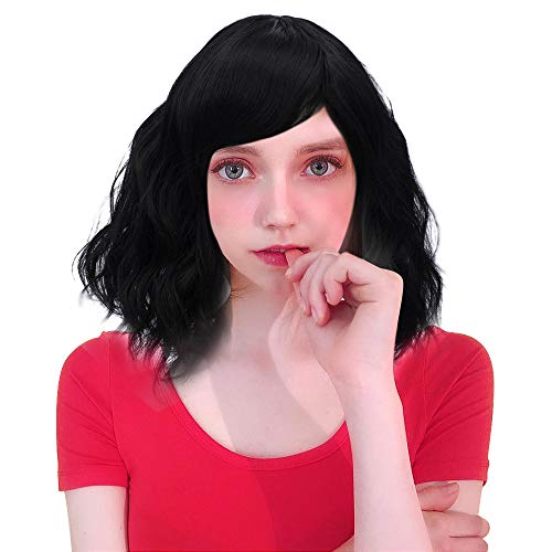 Probeauty Sweety Collection Lolita 40CM Short Curly Women Lolita Anime Cosplay Wig + Wig Cap (Black)…