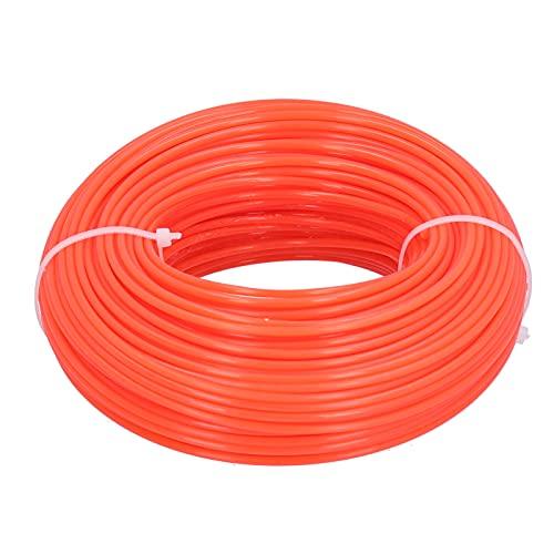 BIKING Línea de Corte, 50 m, 2,4 mm, línea de Corte, Cable de Nailon Redondo, reemplazo de Alambre para cortadora de césped a Gasolina