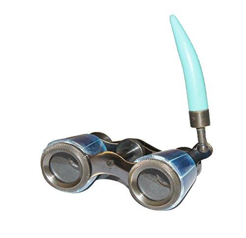 PARIJAT HANDICRAFT Opera Glasses Binocular Theater Vintage Binoculars with White Foldable Handle for Musical Concert