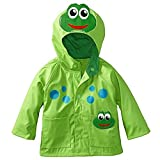 Chubasquero impermeable con capucha poncho de dibujos animados lluvia capa niños niños Outwear gabardina, verde, 4-5 años