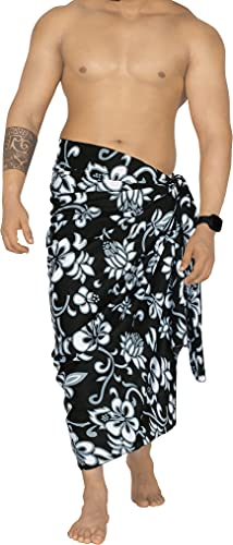 la leela mens swim suits LA LEELA Men's Loungewear Sarong Swimwear Cover Up Summer Beach Wrap Vacation