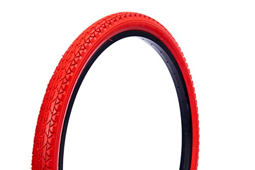 Wanda Beach Cruiser Tires, Red, 26'/One Size