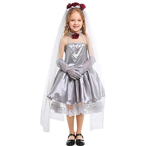 ZDCY Halloween Kinderkleding Geest Bruid Meisje Fee Verhaal Kostuums Halloween Fancy Jurk Kostuum Rok Voor 8 Tot 13 Jaar Oude Meisje