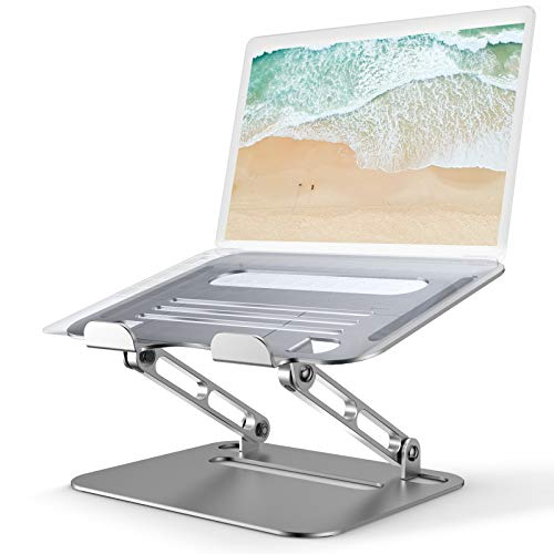 Laptop Ständer Lefun, Laptop Stand Mit Kühllöcher Aluminium Laptoptisch Einstellbarer laptopständer Kompatibel Mit MacBook Air/Pro, PC, Dell, HP, Lenovo Alle Notebook Laptops 10