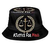 DJNGN Justice for Maud Bucket Hat Sombrero de Sol Unisex Sombreros de Pescador Plegables de Verano Negro