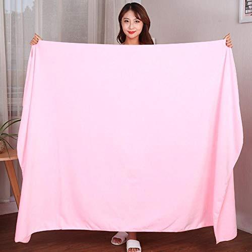 Lyolk Toalla de baño Grande para Adultos, Toalla de Cama Absorbente Grande-Rosa Claro [Sección súper Gruesa] _140x70cm