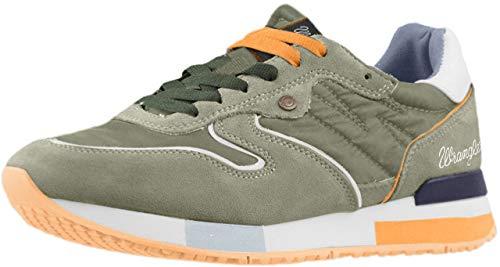 Wrangler WM181081 Niedrige Sneakers Herren Dunkel Grün 43