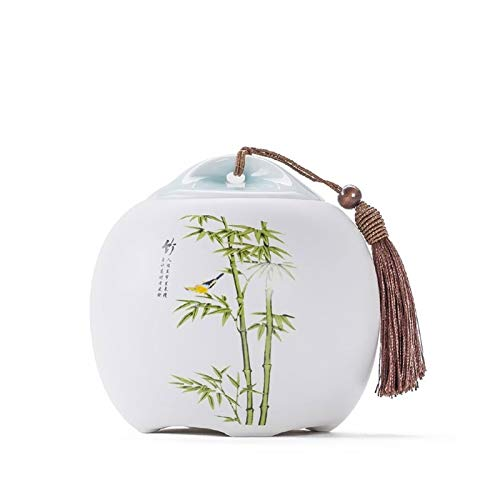 ZXJTX Memorial Box for Ashes Ceramic Ashes Canned Ashes Ashes Coffins Ashes Casket Pet Covered Storage Jar Sealed Jar Cremation Urn (Color : A)