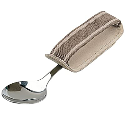 """Sammons Preston - 42883 Universal Cuff, Leather ADL Cuff with Elastic Strap, Holds Utensils or Writing Aids, Makes Mealtime or Other Activities Easier, for Elderly or Individuals with Weak Grip, Medium, 3"""" from SAMMONS PRESTON"""