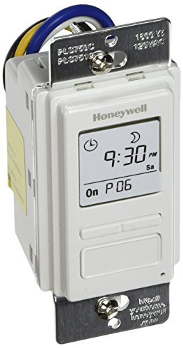 Honeywell FBA_36045 PLS750C1000 Timer Switch with Sunrise Sunset Single or 3 Way, white