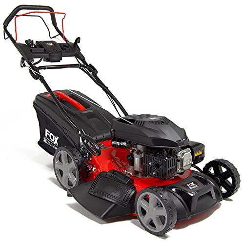 Fox Electric Start Petrol Lawn Mower 21' (53cm) Quad-Cut Self Propelled...