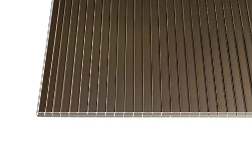 Polycarbonat Stegplatten Hohlkammerplatten bronce 16 mm (3000 x 980 x 16 mm)