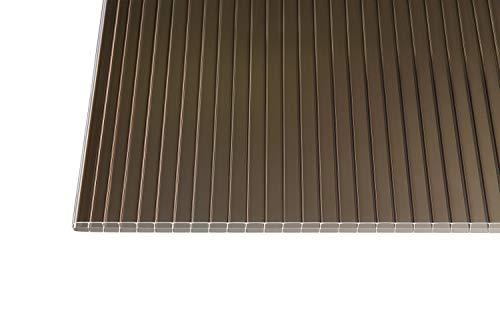 Polycarbonat Stegplatten Hohlkammerplatten bronce 16 mm (2500 x 1200 x 16 mm)
