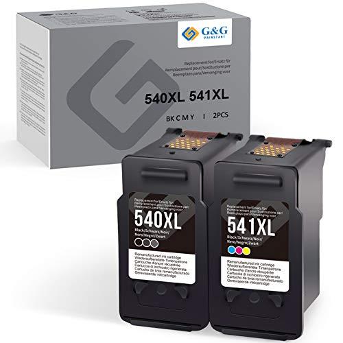 G&G PRINSTANT Kompatibel Canon 540XL 541XL PG-540XL CL-541XL Druckerpatrone für Canon PIXMA TS5150 TS5151 MX395 MX475 MG2150 MG2250 MG3150 MG4150 MG4250 (Schwarz/Farbe)