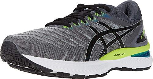 ASICS Men's Gel-Nimbus 22 Running Shoes, 8, Piedmont Grey/Black