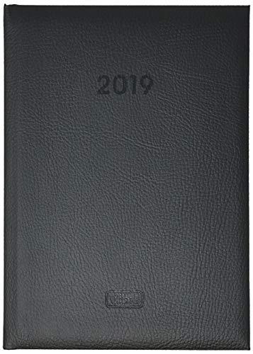 Agenda Diária Torino Costurada Preta 2019 - Tilibra