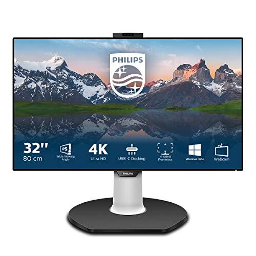 Philips 329P9H Monitor 32', 4k UHD 3840 x 2160, LED IPS, Webcam e Microfono Pop-UP, Regolabile in...