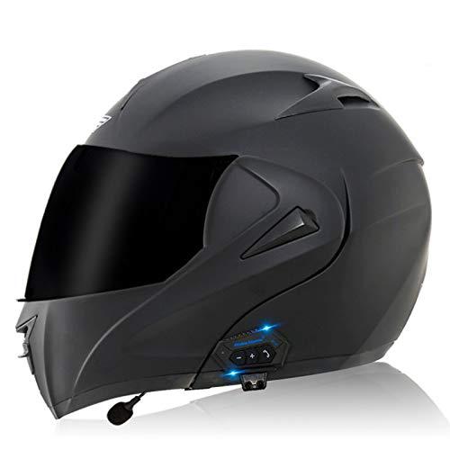 Caschi modulari Bluetooth per motociclette, casco anteriore apribile per moto Auricolare Bluetooth con doppio altoparlante integrato, certificato ECE O,S