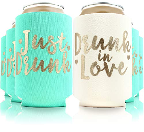 11pc Set of Drunk in Love & Just Drunk Can Coolers