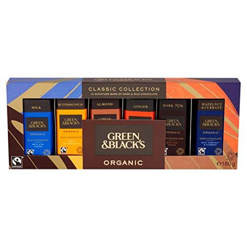 Green & Black's Organic Classic Miniature Chocolate Bar Collection, 12 x 15g