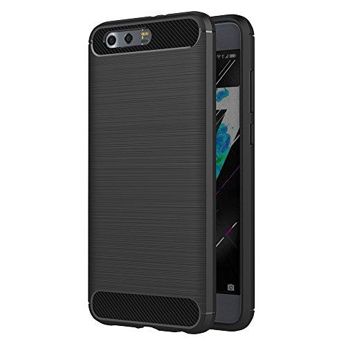 AICEK Honor 9 Hülle, Schwarz Silikon Handyhülle für Huawei Honor 9 Schutzhülle Karbon Optik Soft Case
