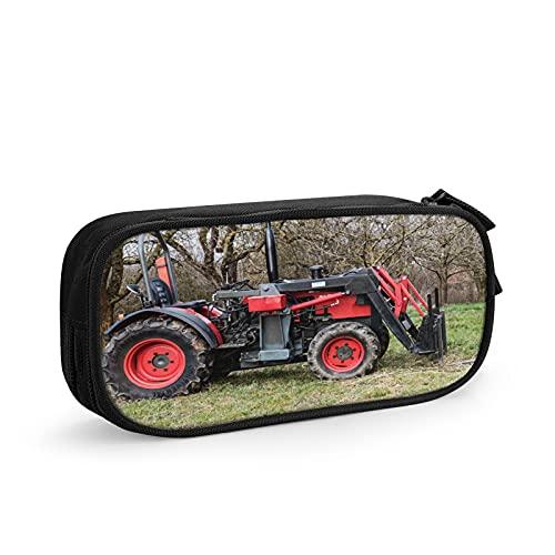 Bulldog coche tractor agricultura Estuche Escolar Multifuncional Estuche De Lápices De Gran Capacidad para Hombre Mujer Estudiante En Escuela Oficina para Niñas Niños