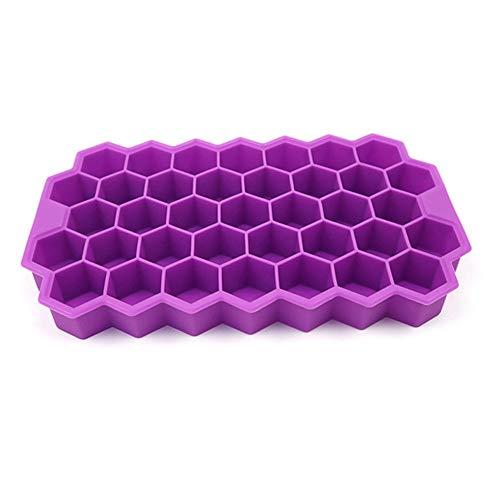 Xingkeji Hexagon Ice Cube Trays – flexibele stapelbare siliconen vorm voor levensmiddelen, voor het zelf maken van mini-ijs voor dranken, whisky