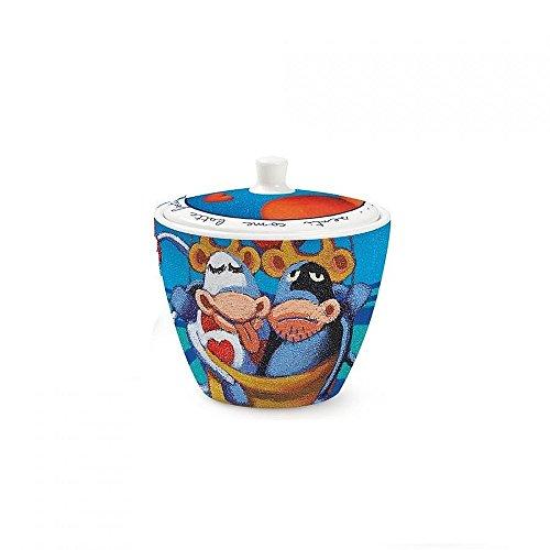 Egan PCS41/19 Zuccheriera, Modello Cuore, Porcellana, Multicolore