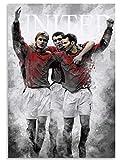 TTbaoz 1000 Piezas Jigs Puzzle Manchester United Football Player Poster Adultos Niños Toy Educational(38*26cm)
