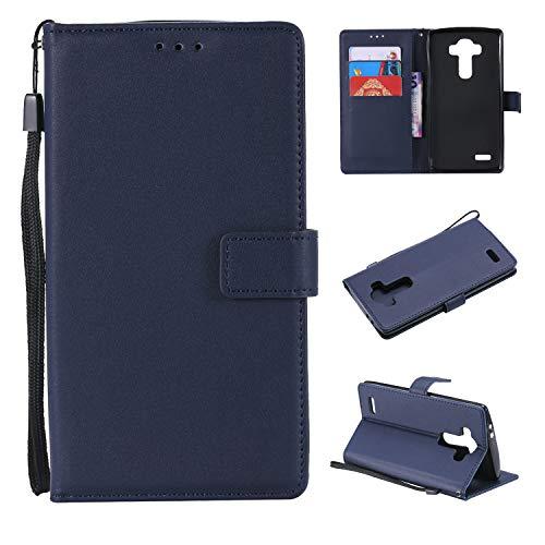 Snow Color LG G4 Hülle, Premium Leder Tasche Flip Wallet Case [Standfunktion] [Kartenfächern] PU-Leder Schutzhülle Brieftasche Handyhülle für LG G4 (H815) - COMS020813 Blau